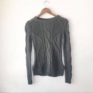 3/$18 Rubbish Fisherman Sweater Knit Dark Green S